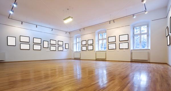 Kunstgalerie foto's lege muur licht Stockfoto © lightkeeper