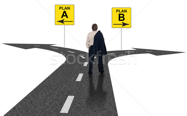 Iş zor çapraz yollar plan Stok fotoğraf © lightkeeper