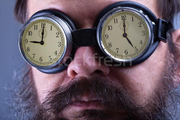 темные очки человека устойчивый работу девять пять Сток-фото © lightkeeper
