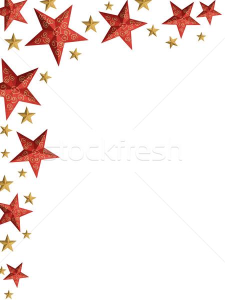 Christmas stars ply - isolated stars Stock photo © lightkeeper