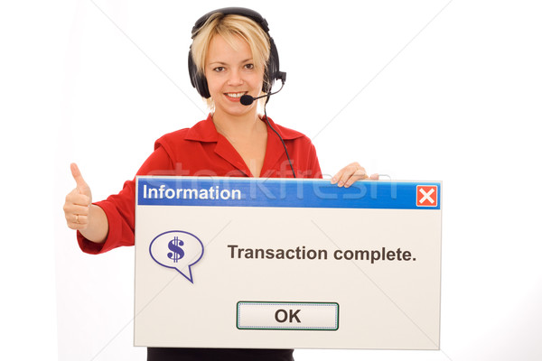 Friendly tele banking operator Stock photo © lightkeeper