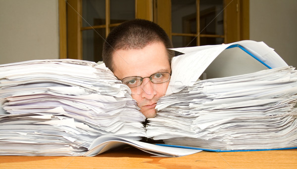 Too much paperwork Stock photo © lightkeeper
