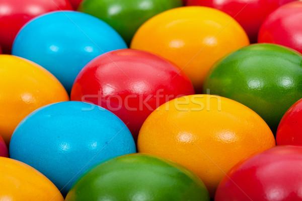 Easter eggs background Stock photo © lightkeeper