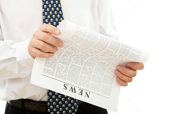Businessman reading news Stock photo © lightkeeper