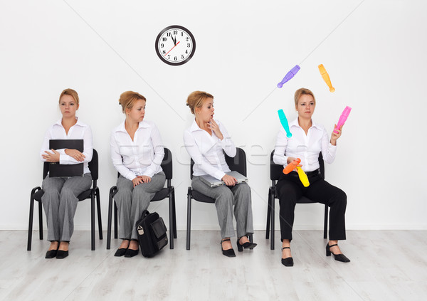 Employees with special skills wanted - job interview candidates Stock photo © lightkeeper