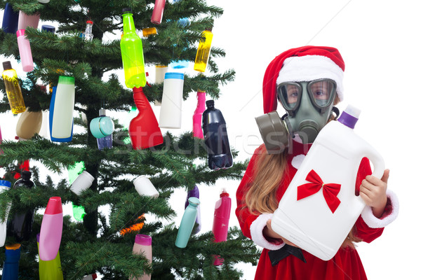 Plastic waste christmas - environmental concept Stock photo © lightkeeper