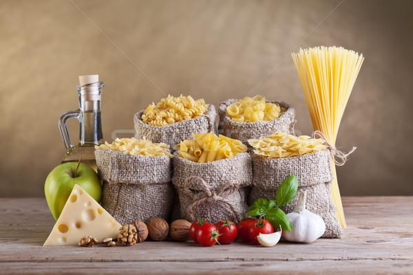 Dieta sana pasta fresche ingredienti alimentare mela Foto d'archivio © lightkeeper