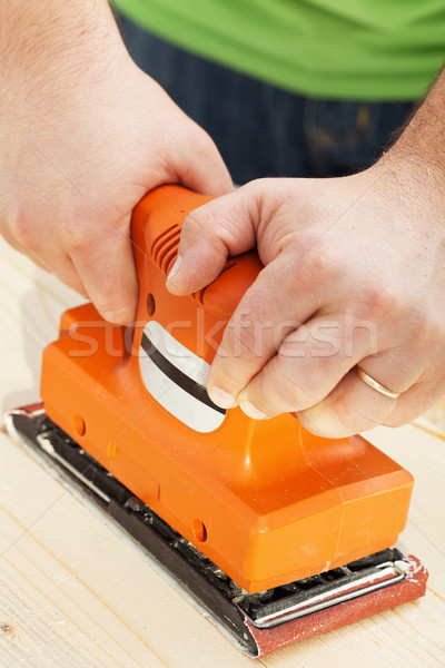 Handy sander machine Stock photo © lightkeeper