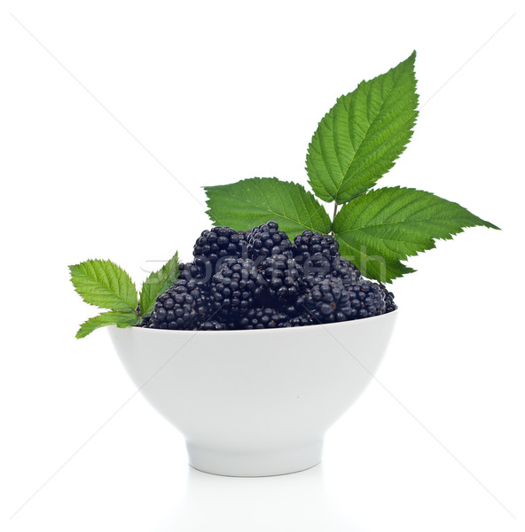 Blackberries in a bowl Stock photo © lightkeeper