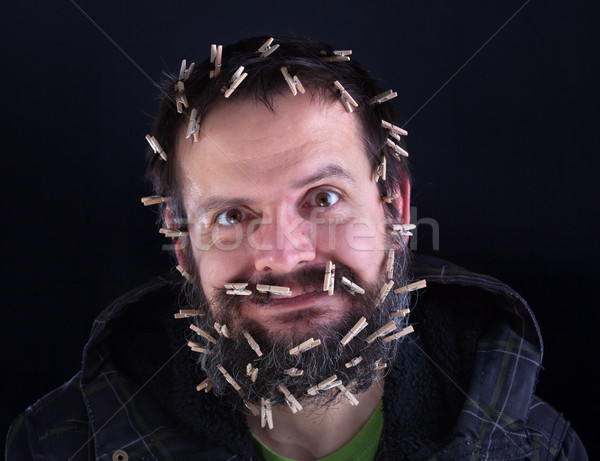 Barely holding it together - stressed man held together with lot Stock photo © lightkeeper