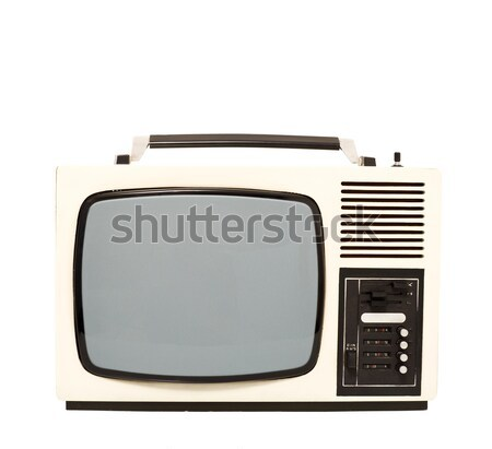 Сток-фото: старые · моде · телевидение · набор · технологий · фон