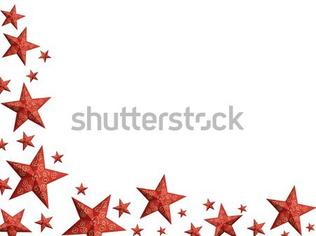 Bright red Christmas stars - isolated Stock photo © lightkeeper
