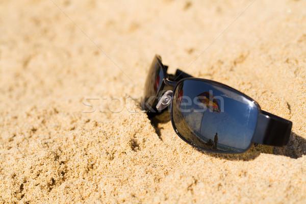 Ombrellone sabbia estate cielo copia spazio spiaggia Foto d'archivio © lightkeeper