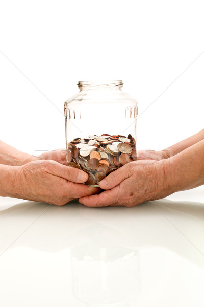 Shrinking value of retirement fund concept Stock photo © lightkeeper