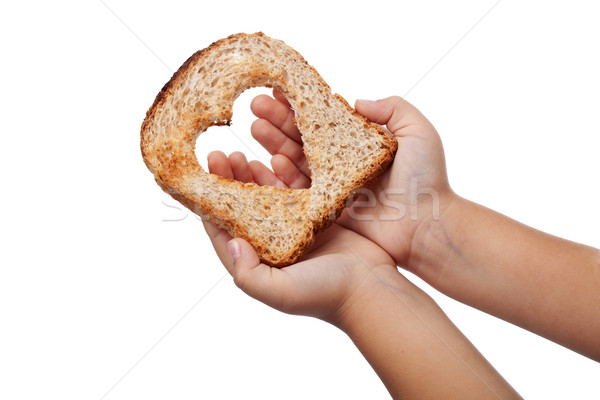 Giving food with love Stock photo © lightkeeper