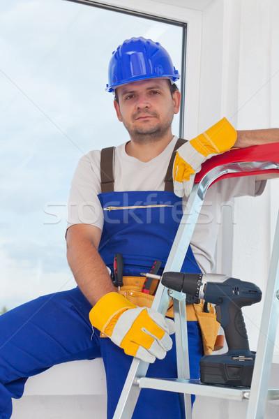 Worker on well deserved break Stock photo © lightkeeper