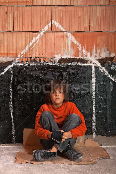 Young homeless boy Stock photo © lightkeeper