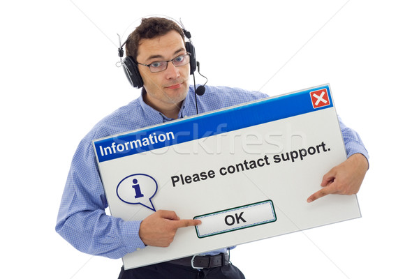 Friendly support guiding customer Stock photo © lightkeeper