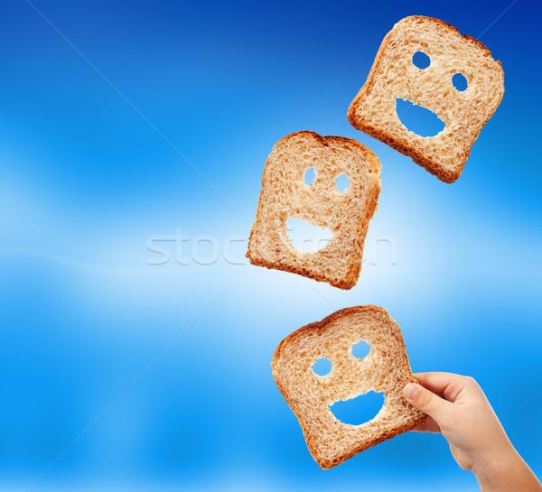 Básico comida abundância pão fatias voador Foto stock © lightkeeper