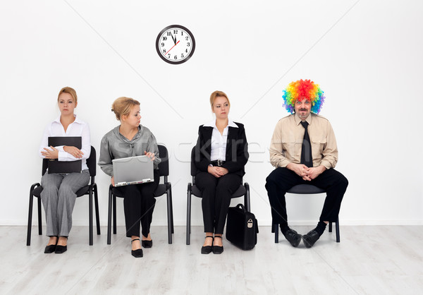 Une foule clown Emploi affaires feu Photo stock © lightkeeper