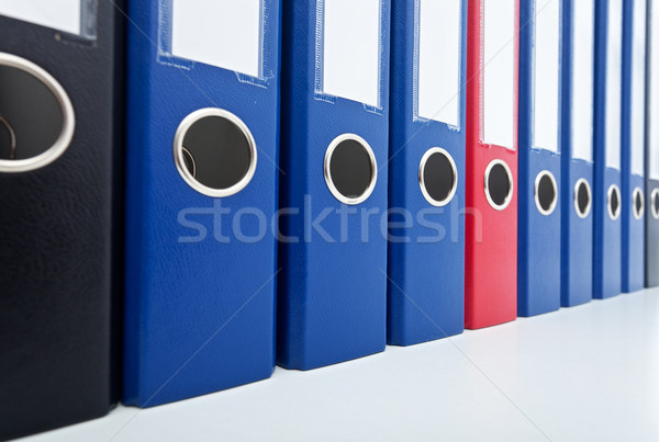 Row of business archive folders Stock photo © lightkeeper