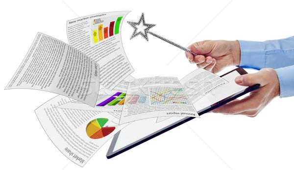 Produktiviteit business documenten computer Stockfoto © lightkeeper