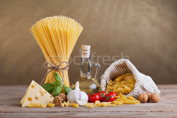 Mediterranean cuisine and diet ingredients Stock photo © lightkeeper