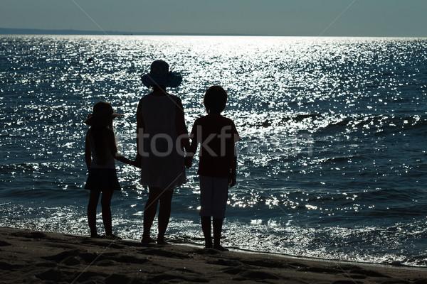 Сток-фото: прощание · морем · конец · отпуск · женщину · дети