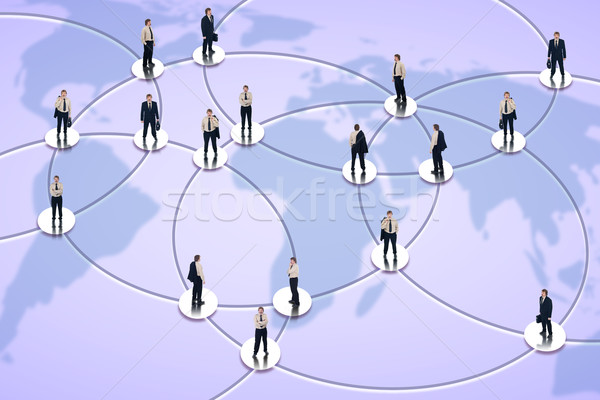 Social networking and global business Stock photo © lightkeeper