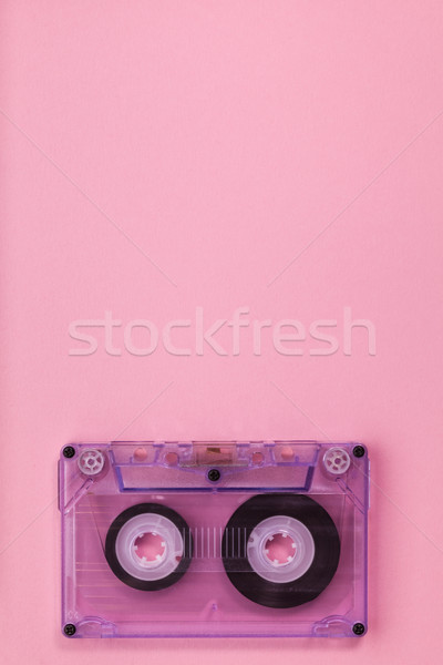 Compact audio tape cassette on pink background Stock photo © lightkeeper