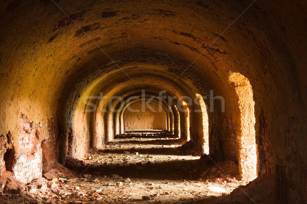 Old archway with sunlight Stock photo © lightkeeper