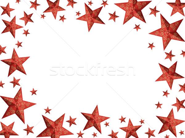 hellen rot weihnachten sternen rahmen hand. Black Bedroom Furniture Sets. Home Design Ideas