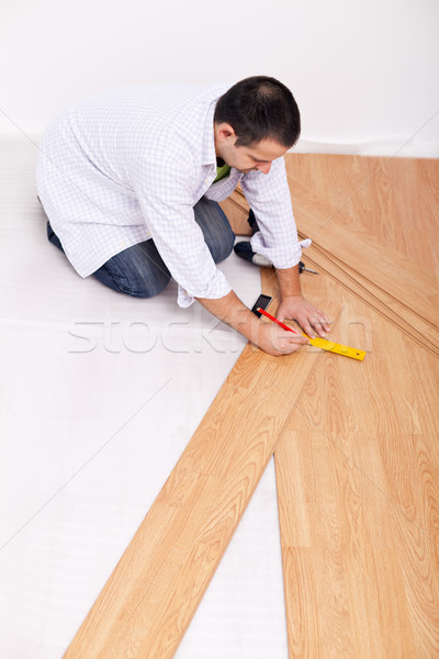 Laying laminate flooring Stock photo © lightkeeper