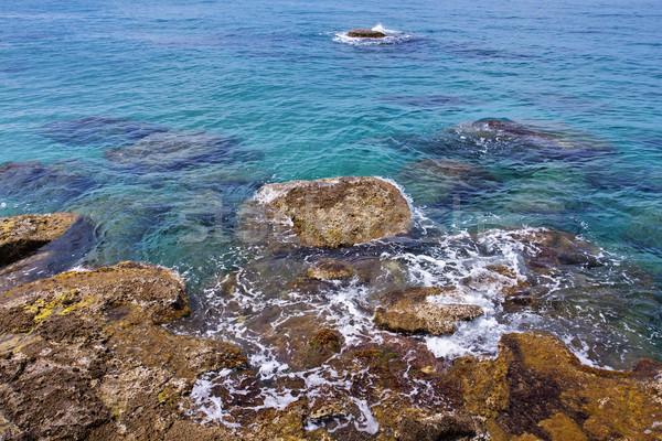 синий морем берега Средиземное море воды Сток-фото © lightkeeper