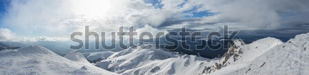 High mountains panorama view from one of the peaks Stock photo © lightkeeper