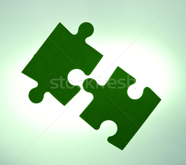 Backlit puzzle pieces - solution concept Stock photo © lightkeeper