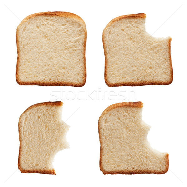 Eating a slice of bread Stock photo © lightkeeper