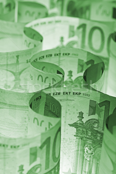 Monochrome green euro banknotes background Stock photo © lightkeeper