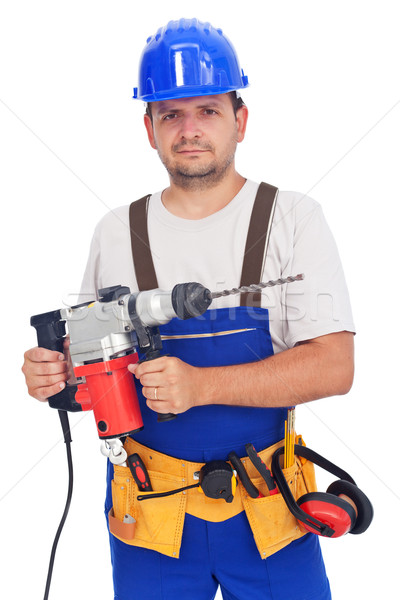 Worker with power tool Stock photo © lightkeeper