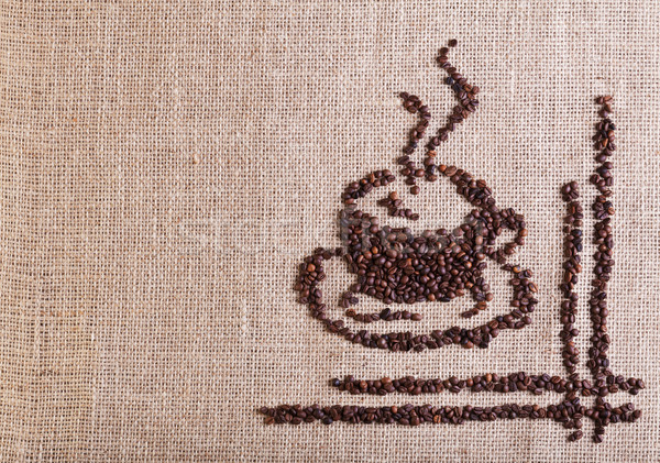 Coffee cup made of beans Stock photo © lightkeeper