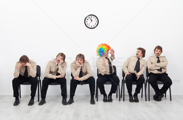 Stock photo: Stressed people waiting for a job interview