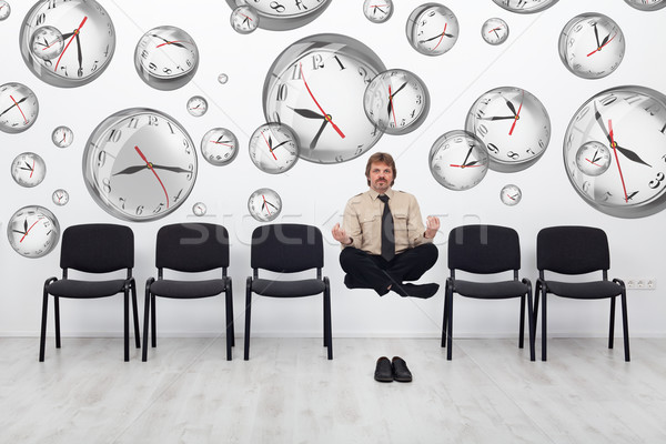 Project manager bending time to meet deadlines Stock photo © lightkeeper