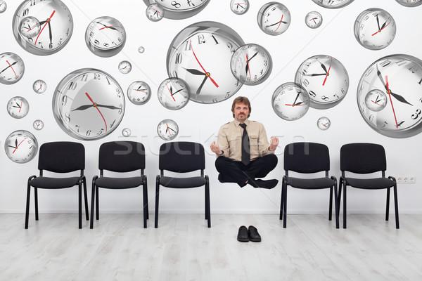 Projektmenedzser görbület idő találkozik határidők zsonglőrködés Stock fotó © lightkeeper