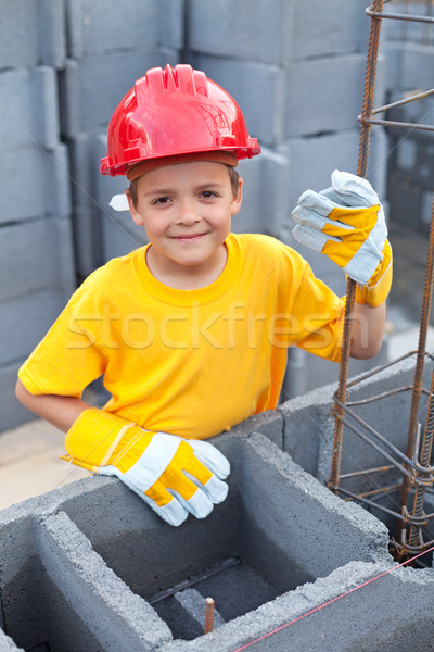 Boy at construction site Stock photo © lightkeeper