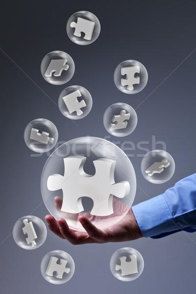 The key piece of a solution Stock photo © lightkeeper