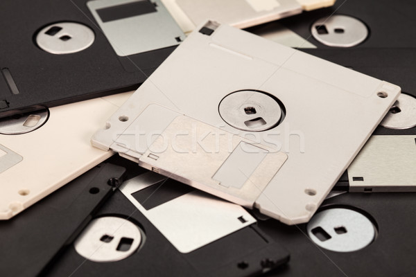 3.5 inch computer floppy disks - vintage technology Stock photo © lightkeeper