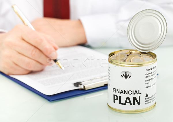 Business man making financial plan concept - closeup Stock photo © lightkeeper