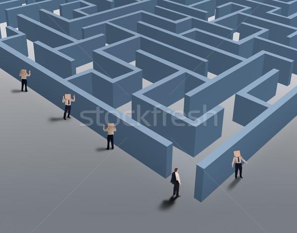 Zakenman bevinding nis markt visie strategisch Stockfoto © lightkeeper