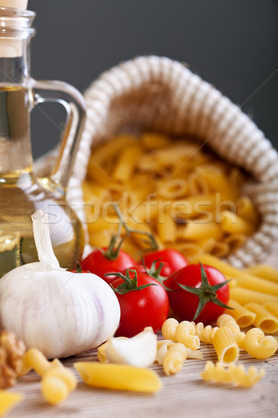 итальянская кухня Ингредиенты типичный пасты чеснока томатный Сток-фото © lightkeeper