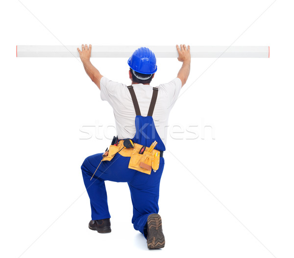 Handyman or worker with ruler Stock photo © lightkeeper